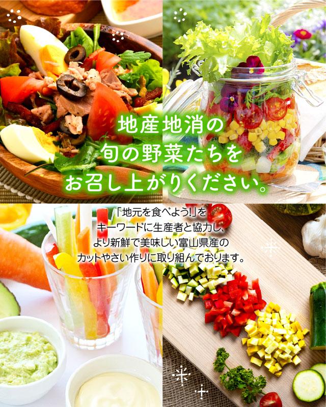地産地消の旬の野菜たちをお召し上がりください
